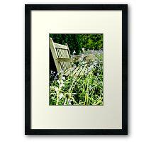 Hidden Bench Framed Print