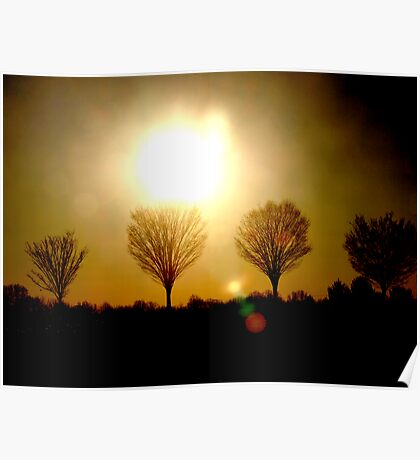 Sunsets and Silhoutte Dreams Poster