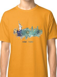 New York City skyline blue Classic T-Shirt