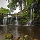 Lumb Hole Waterfall, Hebden Bridge by Steve  Liptrot
