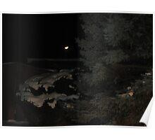 December Dark Night Moon  Poster