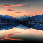 Reflection at sunset #1 by Roberto Pagani