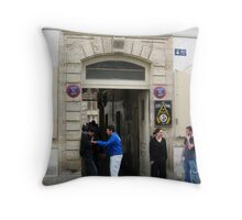 Smoko Time for Parisienne Students Throw Pillow