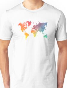 Map of the world colored Unisex T-Shirt