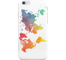 Map of the world colored iPhone Case/Skin