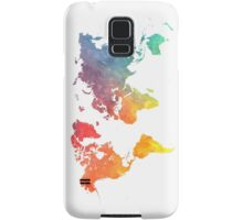 Map of the world colored Samsung Galaxy Case/Skin