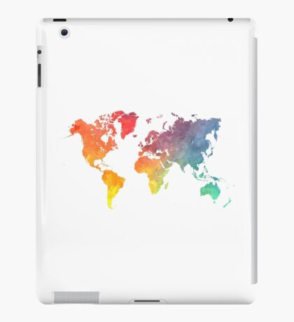 Map of the world colored iPad Case/Skin