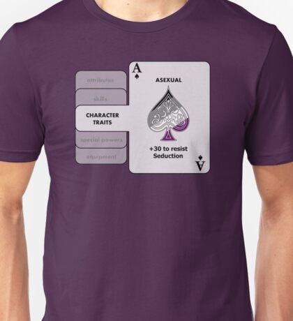 Asexual Character Bonus (Spade Symbol) Unisex T-Shirt
