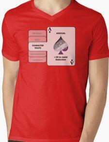 Asexual Character Bonus (Spade Symbol) Mens V-Neck T-Shirt