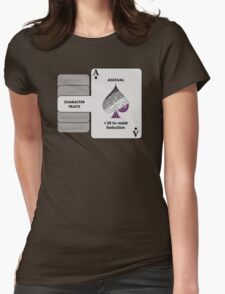 Asexual Character Bonus (Spade Symbol) Womens Fitted T-Shirt