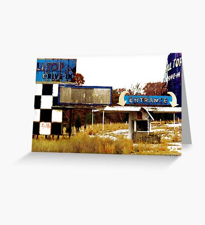 Rhode Island Drive-In Greeting Card