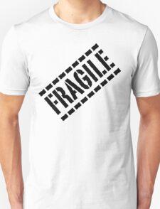 Fragile - Black Lettering, Funny T-Shirt