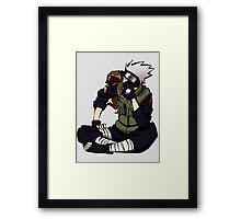 Kakashi x Pakkun - Naruto Framed Print