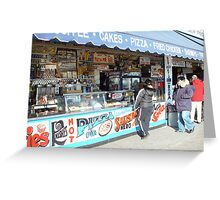Coney Island Stand Greeting Card