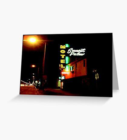 Motel, Sunset Strip, CA Greeting Card