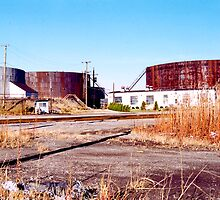 Oil Tanks, Detroit, MI by gailrush