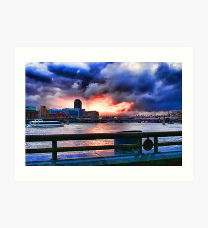 Sunset on the Thames Art Print