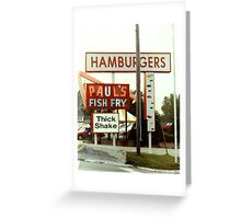 Hamburgers Greeting Card