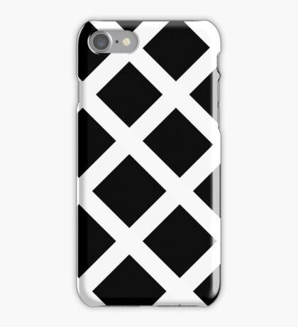 Rhombus Black & White iPhone Case/Skin