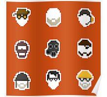 Retro Team Fortress 2 Poster