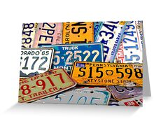 License Plate Poster Greeting Card