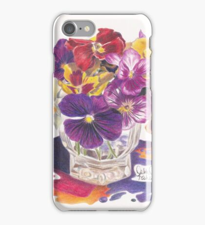 Pansy Color Splash iPhone Case/Skin
