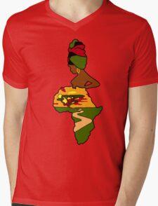 Mother Africa  Mens V-Neck T-Shirt