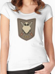 Sora No Woto Owl Crest Women's Fitted Scoop T-Shirt
