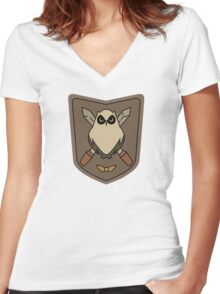 Sora No Woto Owl Crest Women's Fitted V-Neck T-Shirt