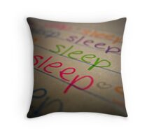 Must Sleep Throw Pillow