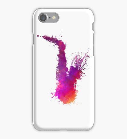 Saxophone purple iPhone Case/Skin