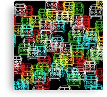 Multi Colour Campervan Canvas Print