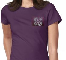 Peacock and Lotus design Womens Fitted T-Shirt