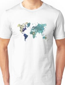World map wind rose Unisex T-Shirt