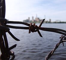 Paper Mill Behind Barbed Wire by farmbrough