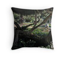 Balboa Park San Diego twisted treescape Throw Pillow