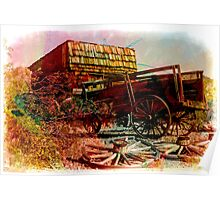 Vintage Wagon and Store Poster