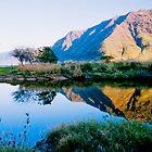 Puaakanohoa Ridge Reflection by kevin smith  skystudiohawaii