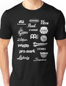 Percussion Logo Collage - White Unisex T-Shirt