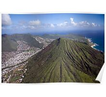 Aerial of Oahu, Hawaii Poster