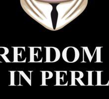 Freedom is in Peril V for Vendetta Sticker