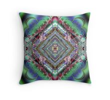 Diamond Fractal Artwork Throw Pillow