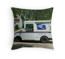 Mail Service In Any Weather Throw Pillow