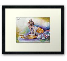 Gloomy Little Dancer by J.Namerow Framed Print