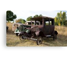 Antique Cars, Rural America Canvas Print