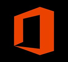 Office logo - Orange on black by lp4so