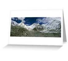 The Base of the Top of the World Greeting Card