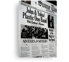 John & Yoko 18 Canvas Print