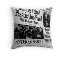 John & Yoko 18 Throw Pillow