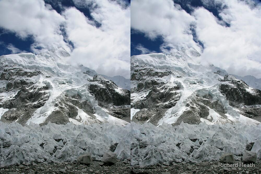 Nuptse and Everest Pinnacles 3D by Richard Heath
